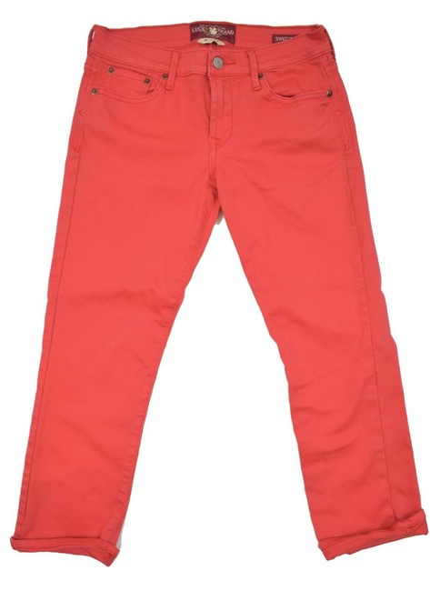 Item - Red Coated 4/27 Capri/Cropped Jeans Size 27 (4, S)
