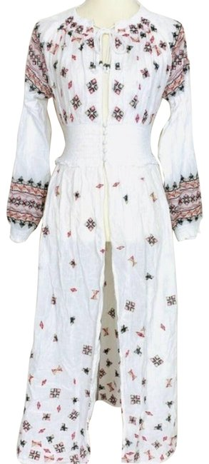 Item - White XS Mykonos Embroidered Long Cocktail Dress Size 0 (XS)