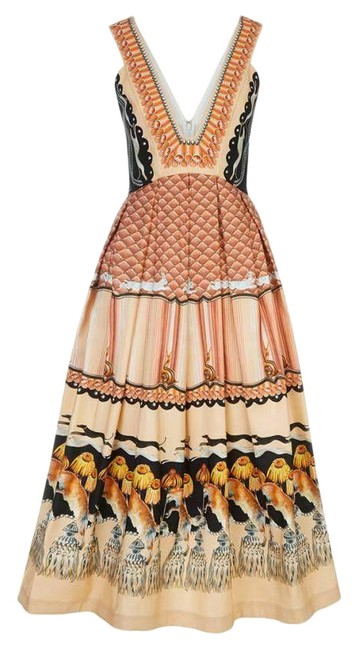 Item - New Foxglove Printed Mid-length Cocktail Dress Size 10 (M)