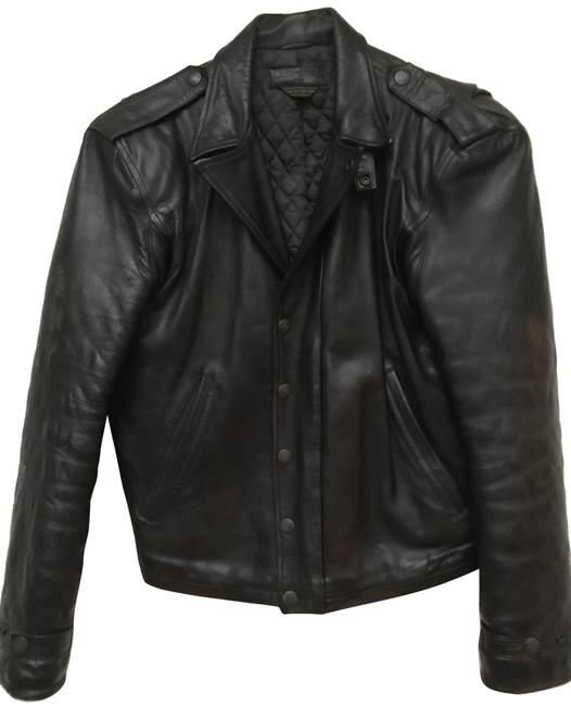 Item - Brown Leather Motorcycle By Coat Size 4 (S)
