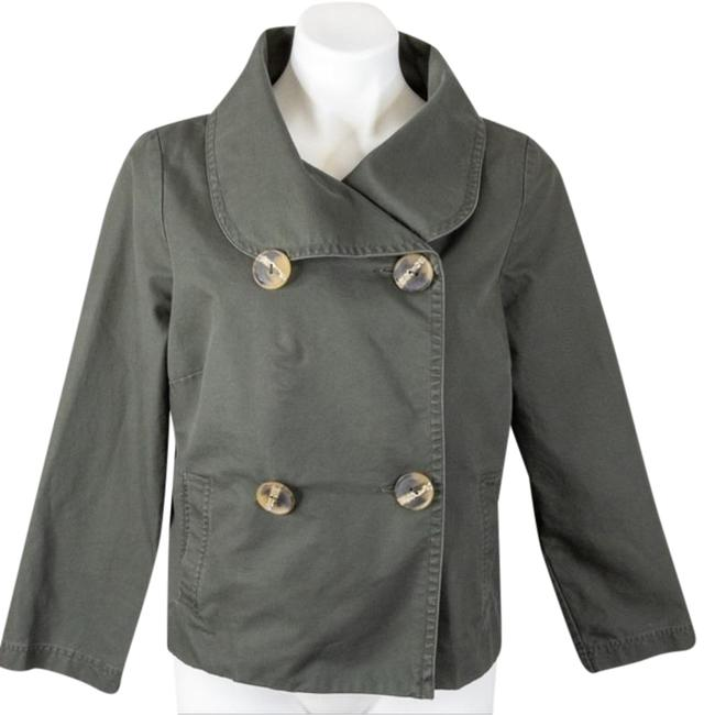 Item - Green Anthro & Sitwell Army Crop Coat Size 12 (L)