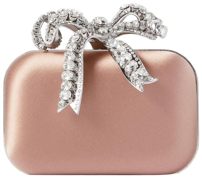 Item - Cloud Micro Crystal-embellished Pink Satin Clutch