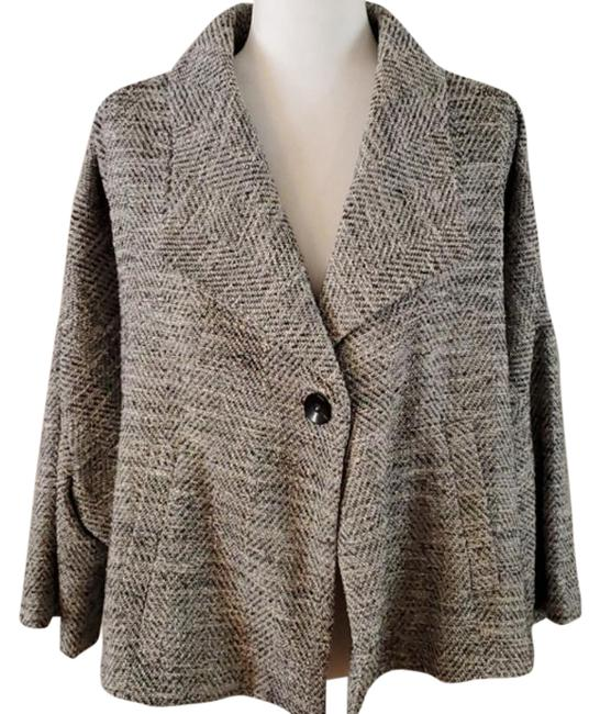 Item - Gray Tweed Crop Swing Coat Blazer Size 8 (M)