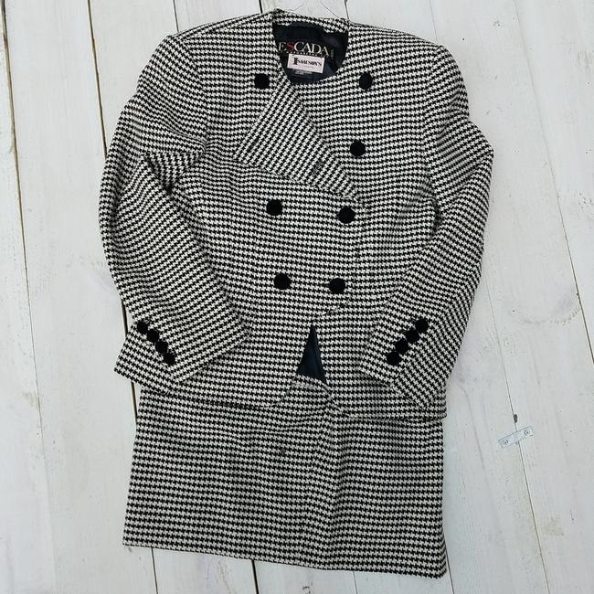Item - Black and White Houndstooth Skirt Suit Size 6 (S)