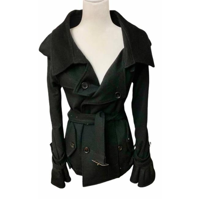 Item - Black Rare Wool and Cashmere Coat Size 2 (XS)