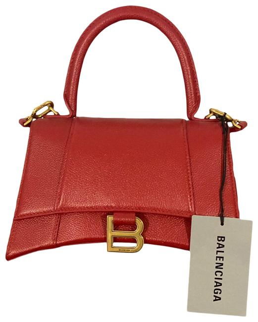 Item - Hourglass Red Leather Cross Body Bag