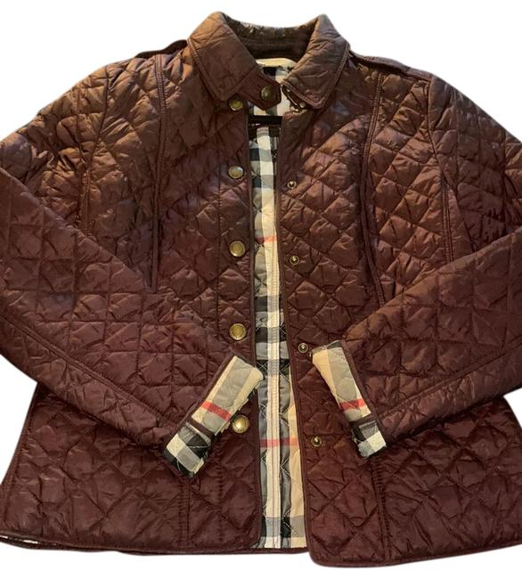 Item - Burgundy Color Quilted Jacket Size 4 (S)