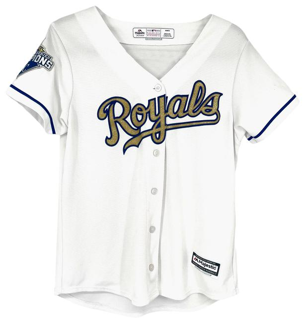 Item - White Jersey Kc Royals World Series 2015 Collectors Activewear Top Size 2 (XS)