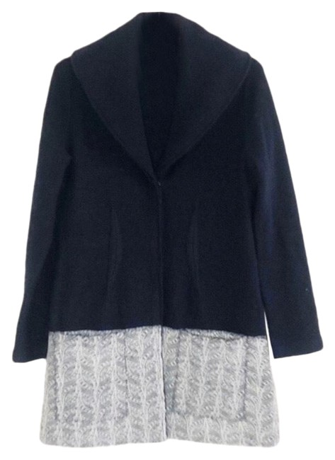 Item - Black Angel Of The North Boiled Wool Lace Sweatercoat Coat Size 4 (S)