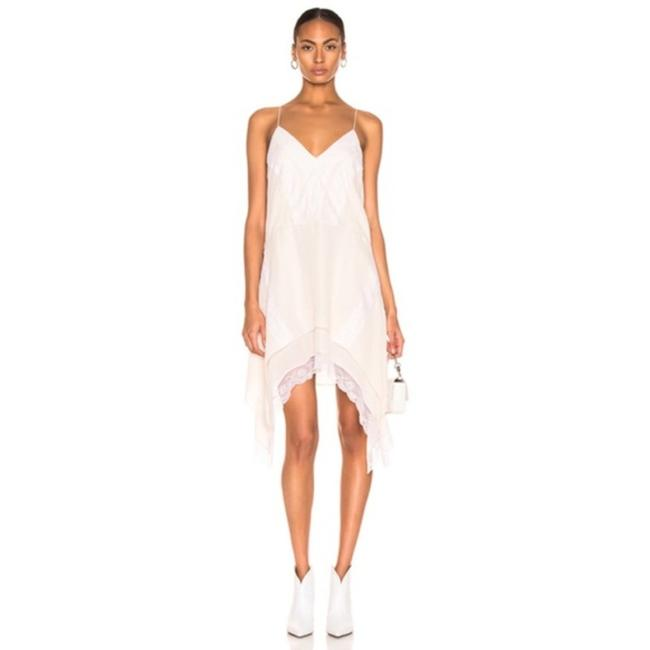 Item - White Gift Silk Blend Lace Cocktail Dress Size 8 (M)