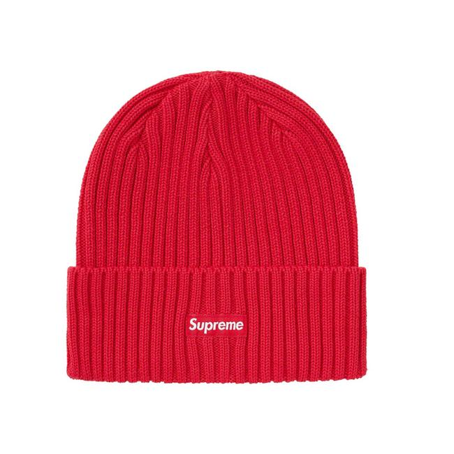 Item - Red Overdyed Beanie Hat