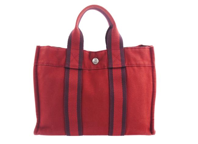Item - Fourre Tout Vintage Pm Red Canvas Tote