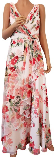 Calvin Klein Evening Floral Long Night Out Dress Size 8 (M) Calvin Klein Evening Floral Long Night Out Dress Size 8 (M) Image 1