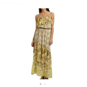 Green Yellow Maxi Dress by Joie