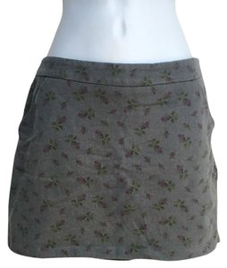 Betsey Johnson Mini Skirt Grey Floral