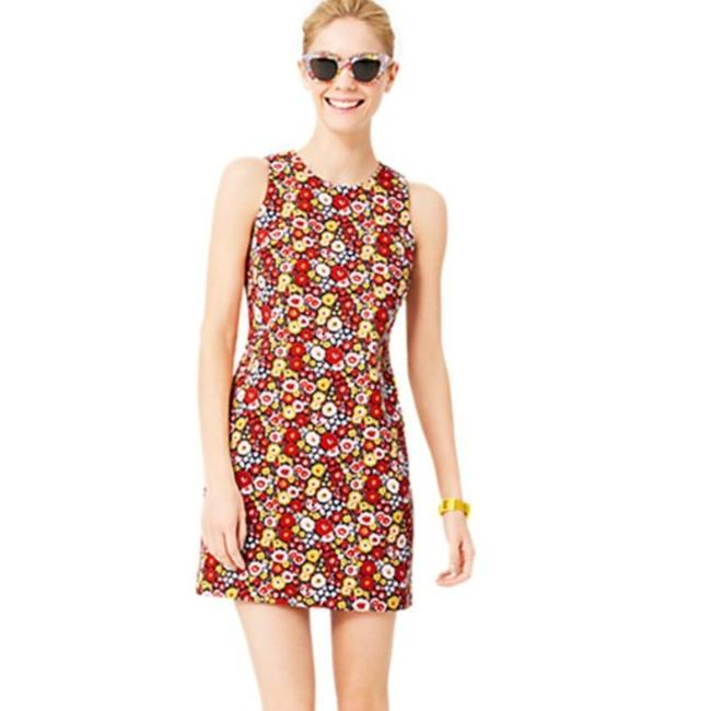 Item - Red White Nwot Floral Print Sleeveless Mini Short Casual Dress Size 6 (S)