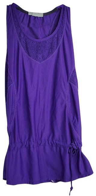 Item - Purple Cinched Tank Activewear Top Size 2 (XS)