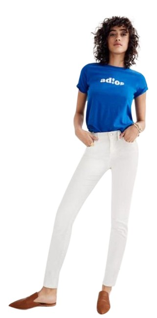"""Item - White 9"""" High-rise Skinny Jeans Size 26 (2, XS)"""