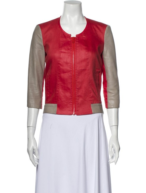 Item - Red XS New Linen Leather Sleeve P/Xs Jacket Size 2 (XS)
