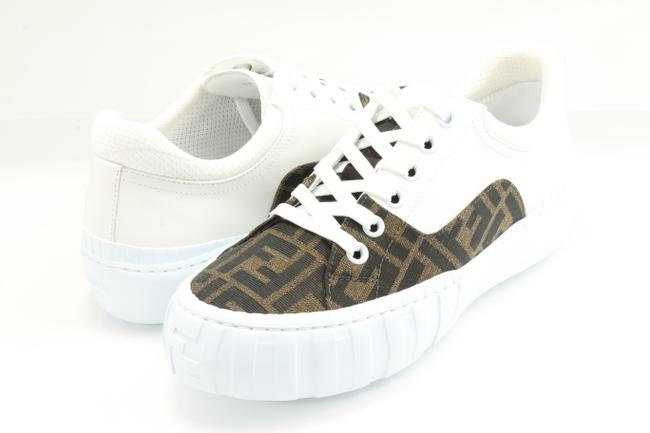 Item - Multicolor Brown Fabric Low-top Sneakers Shoes