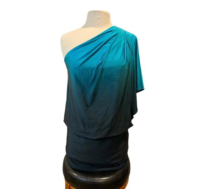 Item - Blue One-shoulder Party Short Night Out Dress Size 6 (S)