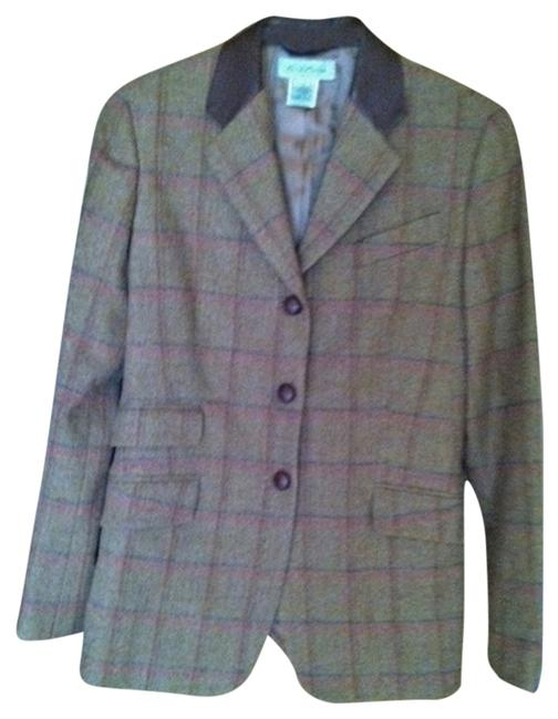 Brooks Brothers tan tweed Blazer