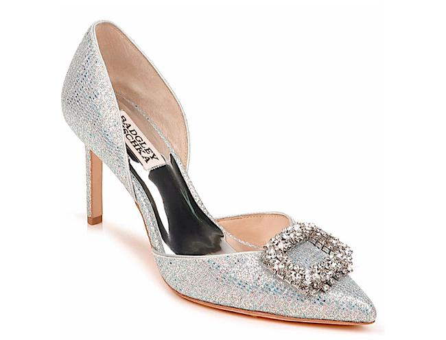 Item - Silver Geter New Gaiana Crystal Embellished Pointed Toe D'orsay Pumps Size US 7.5 Regular (M, B)
