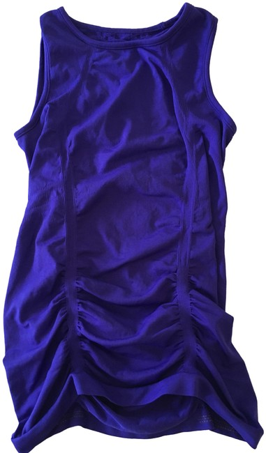 Item - Empire Blue/Purple Ruched Sleeveless Activewear Top Size 4 (S)
