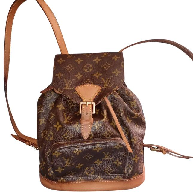 Item - Montsouris Mm Brown and Tan Monogram Canvas Backpack