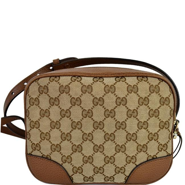 Item - Bree 449413 Beige/Brown Gg Canvas and Leather Cross Body Bag
