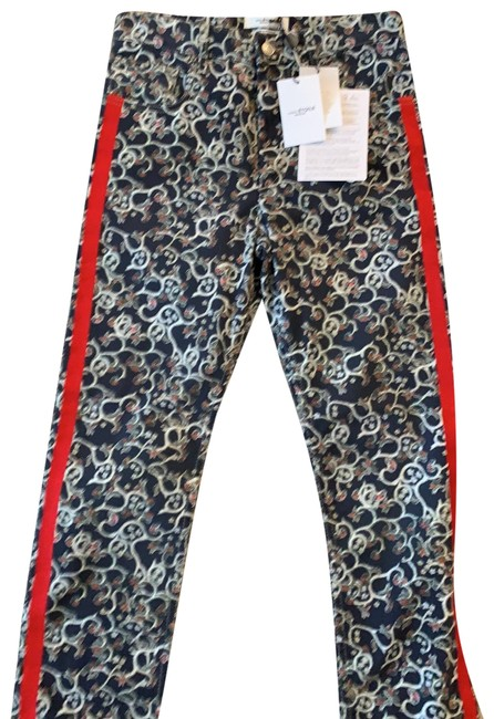 Item - Multi-color Light Wash Printed Denim Fliff with Red Bands Relaxed Fit Jeans Size 4 (S, 27)