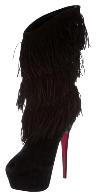 Item - Black Red Forever Tina Fringe Tall Boots/Booties Size EU 39 (Approx. US 9) Regular (M, B)