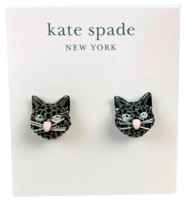 Item - Black Out Of The Bag Cat Stud Earrings