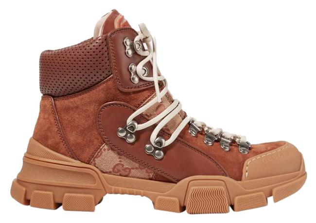 Item - Brown New Gg Supreme Flashtrek Suede Leather Canvas Ankle Booties Sneakers Size EU 39.5 (Approx. US 9.5) Regular (M, B)