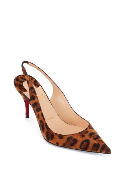 Item - Multicolor Clare Leopard Suede Pointed Slingback Pumps Size EU 38 (Approx. US 8) Regular (M, B)