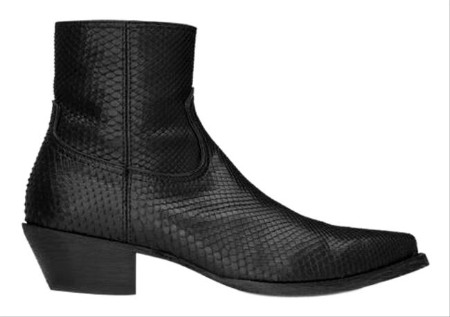 Item - Black Lukas In Python Boots/Booties Size EU 40 (Approx. US 10) Regular (M, B)