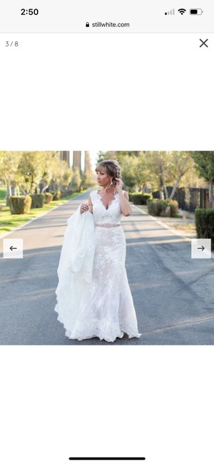Calla Blanche Ivory Lace 19129 Dawn Traditional Wedding Dress Size 6 (S) Calla Blanche Ivory Lace 19129 Dawn Traditional Wedding Dress Size 6 (S) Image 4