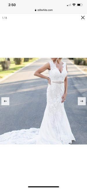 Calla Blanche Ivory Lace 19129 Dawn Traditional Wedding Dress Size 6 (S) Calla Blanche Ivory Lace 19129 Dawn Traditional Wedding Dress Size 6 (S) Image 5