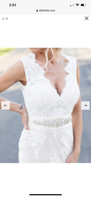 Calla Blanche Ivory Lace 19129 Dawn Traditional Wedding Dress Size 6 (S) Calla Blanche Ivory Lace 19129 Dawn Traditional Wedding Dress Size 6 (S) Image 7