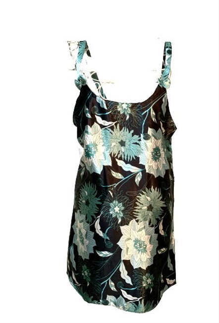 Item - Green White Over Black Sante Classic / Rn 132920 Short Casual Dress Size 4 (S)