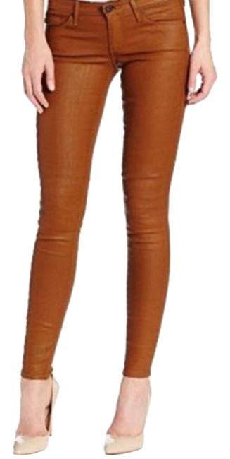 Item - Brown Coated Absolute Legging Extreme Skinny Jeans Size 25 (2, XS)