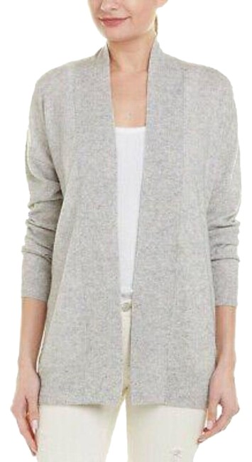 Item - Gray Cashmere Wool Open Front Sweater Cardigan Size 12 (L)