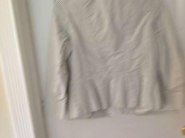 Ann Taylor LOFT Casual white with blue pin stripes Jacket