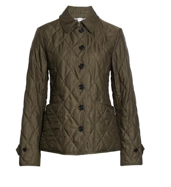 Item - Dark Olive Fernleigh Thermoregulated Diamond Quilted Jacket Size 2 (XS)