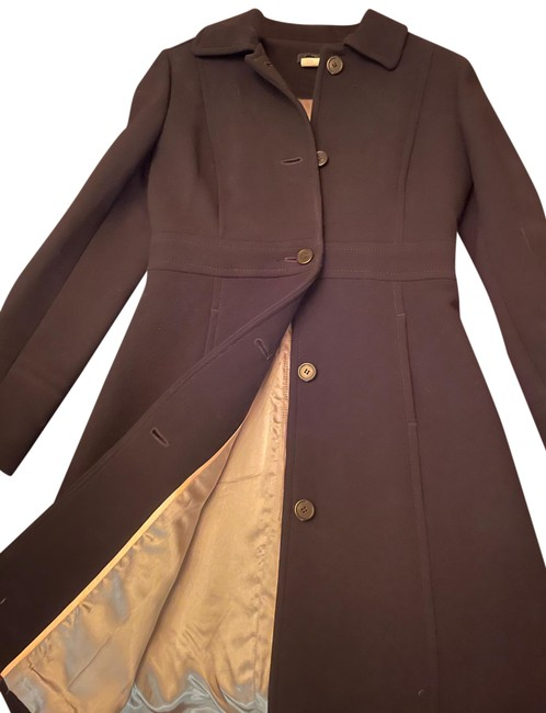 Item - Black Double Cloth Wool Lady Day Coat Size 4 (S)