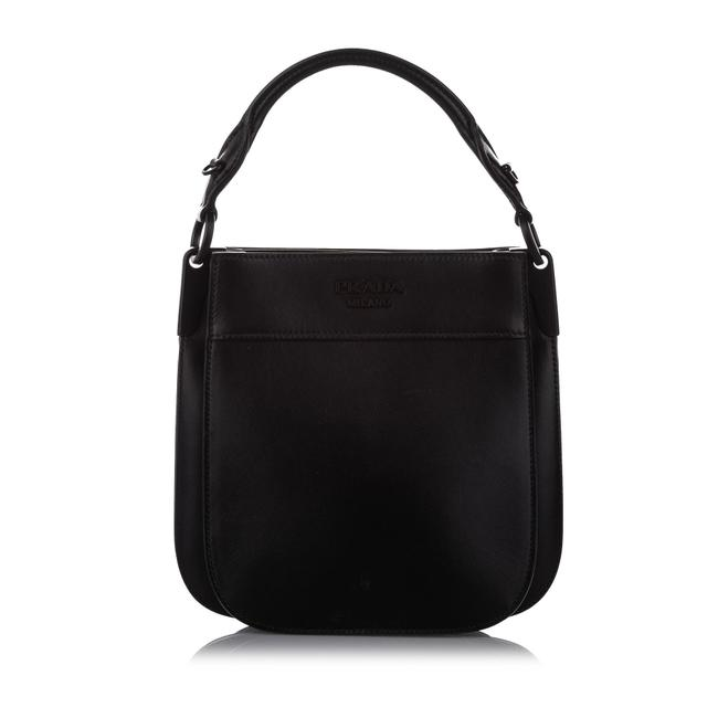 Item - City Calf Margit Black Leather Satchel