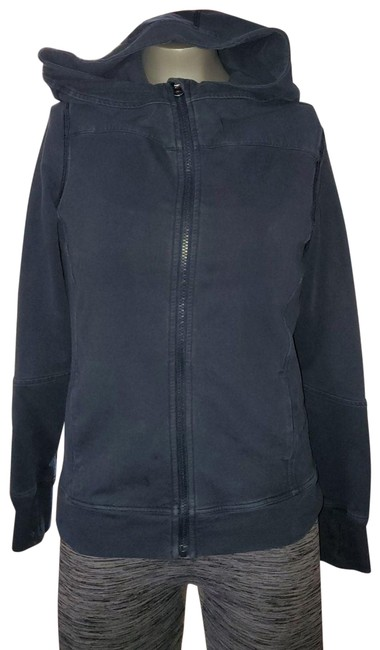 Item - Blue Jersey Thick Jacket Activewear Outerwear Size 2 (XS)