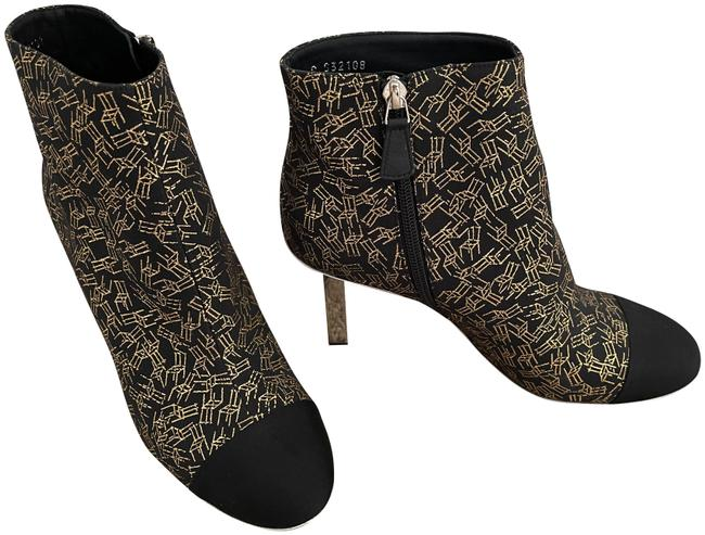 Item - Black and Gold Ruler Heel Boots/Booties Size EU 39 (Approx. US 9) Regular (M, B)