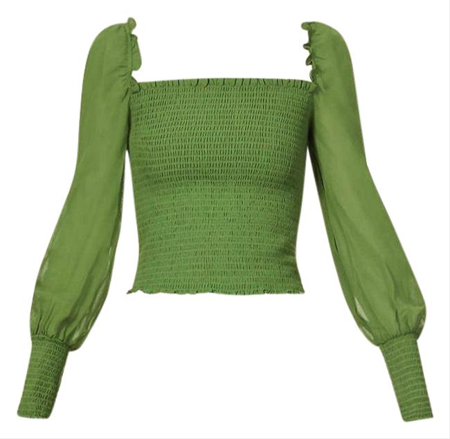 Item - Green Pinto Moss Blouse Size 4 (S)