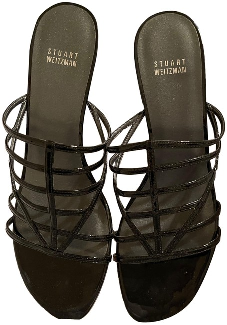 Item - Black Patent Box - Carcel In 1/2 - With Sandals Size US 9.5 Regular (M, B)